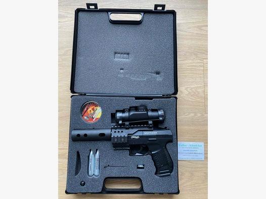 Walther Night Hawk 4,5 mm Diabolo CO2 3,5  Neuwertig