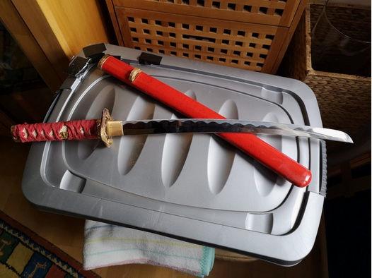 Samureischwert Red Worrior Katana rot