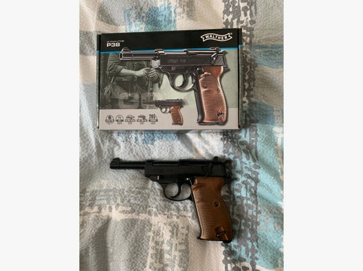 Walther P38 4,5 mm Stahl BB CO2 Luftpistole inkl OVP und Koffer