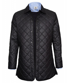 Black Waxed Quilted Jacket