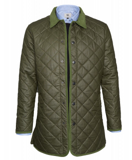 Olive Waxed Quilted Jacket