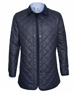 Navy Waxed Quilted Jacket