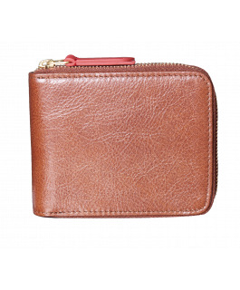 Brown & Red Zip Wallet