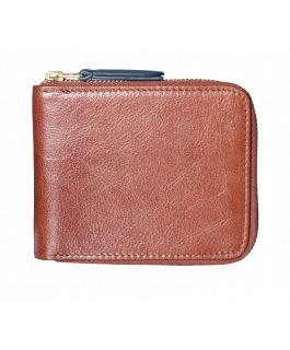 Brown & Green Zip Wallet