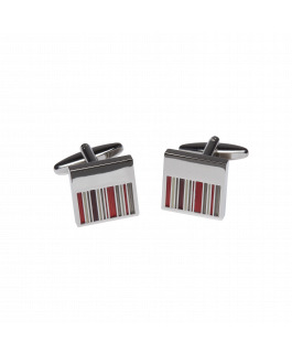 Red Stripe Cufflinks