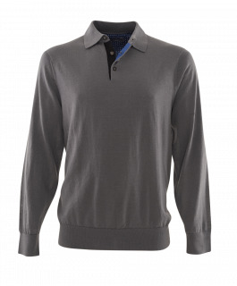 The Alfa Grey Polo Merino