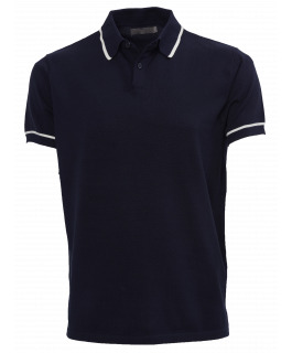 The Paxton Knit Polo - Navy
