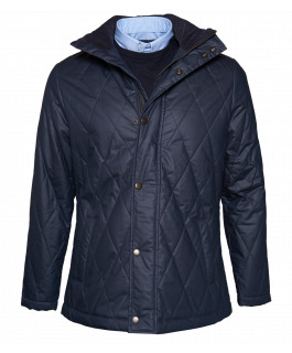 Navy Waxed Cotton Jacket