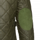 Olive Waxed Quilted Jacket Coats Green