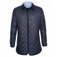 Navy Waxed Quilted Jacket Coats Blue