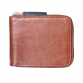 Brown & Green Zip Wallet Wallets