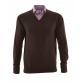 The Moretti Brown V-Neck Merino