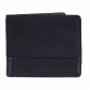 Black Canvas Leather Wallet
