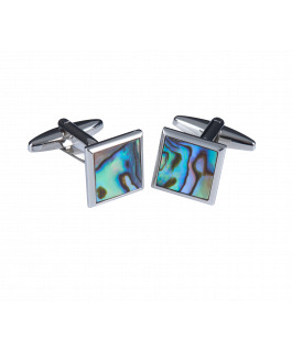 The Square Paua Cufflinks
