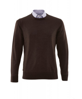 The Berliner Brown Crew Neck Merino