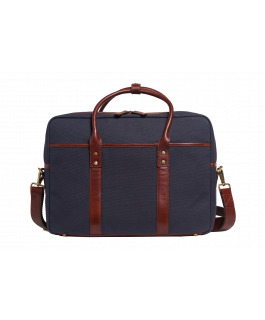 The Barcelona Navy Satchel