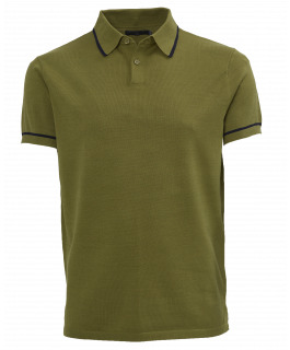 The Paxton Knit Polo - Army Green