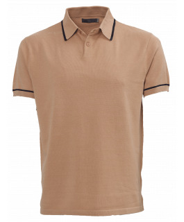 The Paxton Knit Polo - Tan