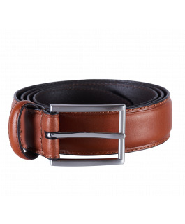 Camel Stitch Leather Belt