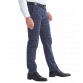 The Huxton Pant - Navy Self Check Trousers Other