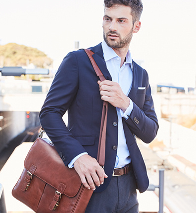 Mens Leather Bags, Backpacks & Luggages - Barkers