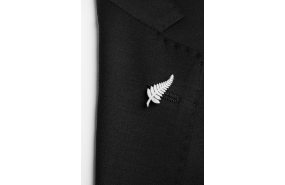Silver Fern Lapel Pin