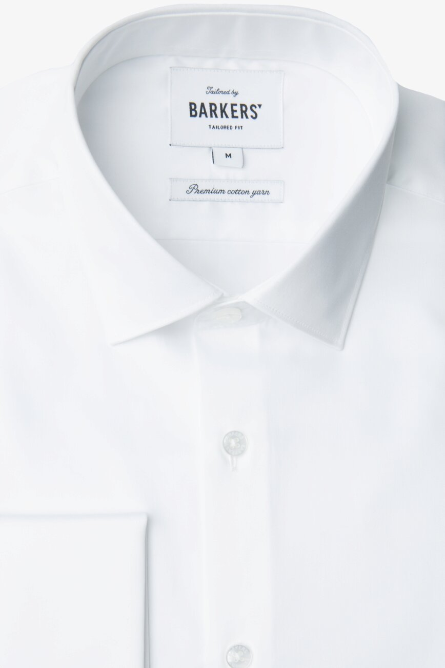 cecaf4715f0 Get the Tribeca French Cuff Shirt in White Online - With free shipping.  Barkers