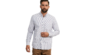 Edwards Oxford Stripe Shirt C