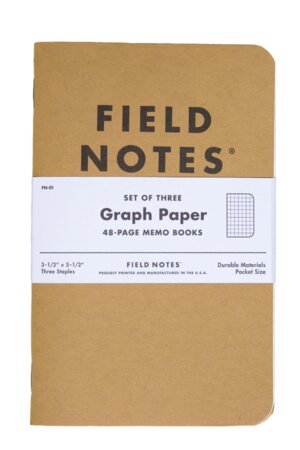 Field Notes 3 Pack Graph Notebooks