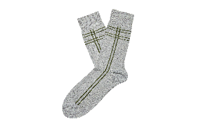 Canute Check Sock