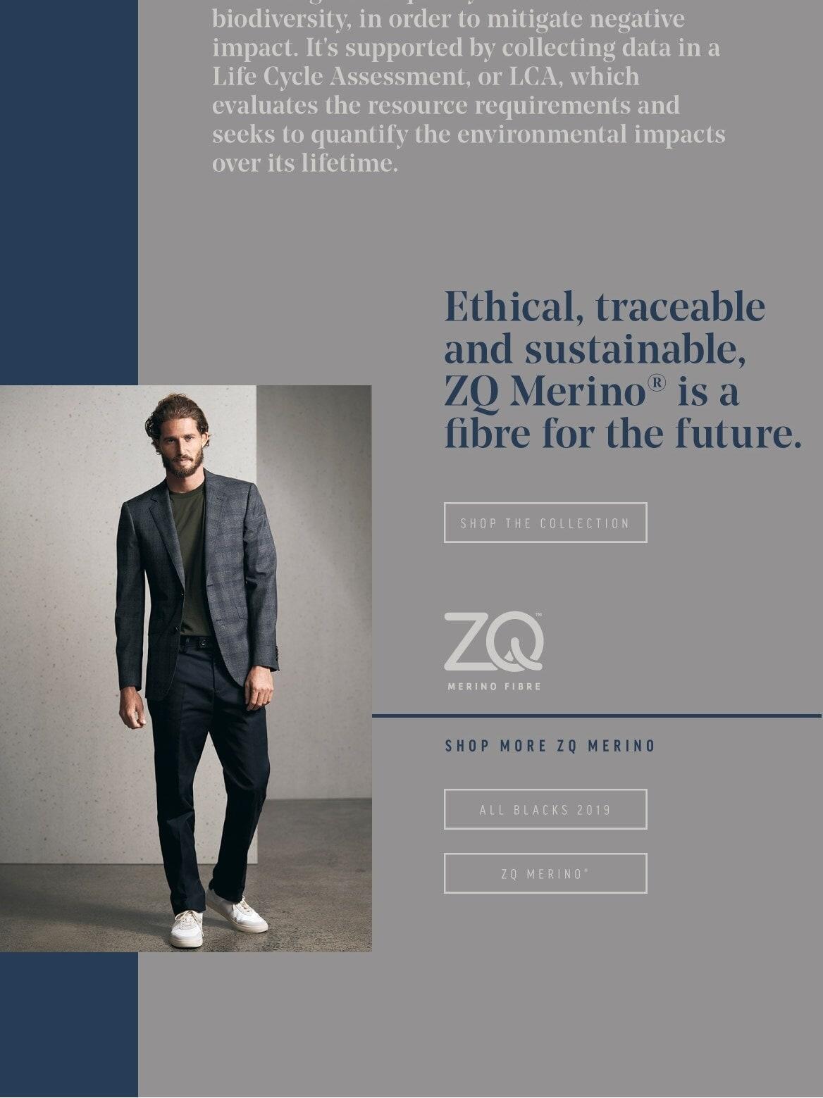 Barkers ZQ Ethical Merino Menswear Range
