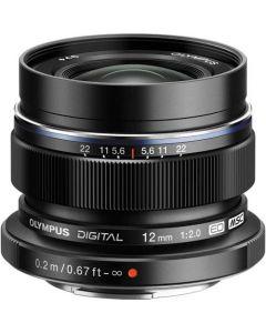 Olympus M.Zuiko ED 12mm f/2 Lens - Black from Camera Pro