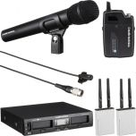 Audio-Technica System 10 PRO ATW-1312/L KIT Wireless Microphone System Two Receivers Two Transmitters One Lapel Kit from Camera Pro