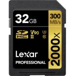 Lexar Professional 2000x UHS-II V90 32GB SD Card from Camera Pro