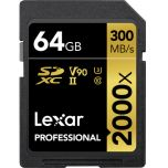 Lexar Professional 2000x UHS-II V90 64GB SD Card from Camera Pro