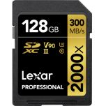 Lexar Professional 2000x UHS-II V90 128GB SD Card from Camera Pro