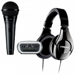 Shure Digital Recording Kit includes PGA58 Microphone XLR Cable, MVi Interface & SRH240A from Camera Pro
