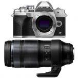 Olympus E-M10 Mark IV/4 Silver Camera with M.Zuiko Pro 100-400mm f/5.0-6.3 Lens from Camera Pro