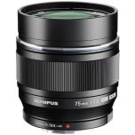 Olympus M.Zuiko ED 75mm f/1.8 Lens - Black from Camera Pro
