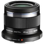Olympus M.Zuiko 45mm f/1.8 Lens - Black from Camera Pro