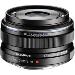 Olympus M.Zuiko 17mm f/1.8 Wide Metal Snap Lens - Black from Camera Pro
