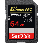 SanDisk Extreme PRO SD 64GB 300MB/S UHS-II Memory Card from Camera Pro