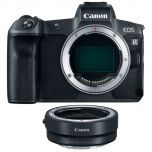 Canon EOS R Mirrorless Camera with EF to RF Adapter from Camera Pro