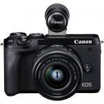 Canon EOS M6 Mark II Mirrorless Camera with EF-M15-45mm Lens + EVFDC2 from Camera Pro