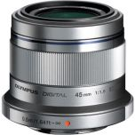 Olympus M.Zuiko ED 45mm f/1.8 Lens - Silver from Camera Pro