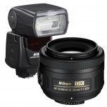 Nikon 35mm DX Portrait Kit AF-S DX 35mm f/1.8G & SB700 from Camera Pro