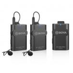 Boya BY-WM4 Pro-K2 Wireless Mic System w 2 Transmitters from Camera Pro