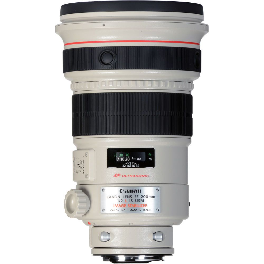 Image of Canon EF 200mm f2L IS USM Telephoto Lens