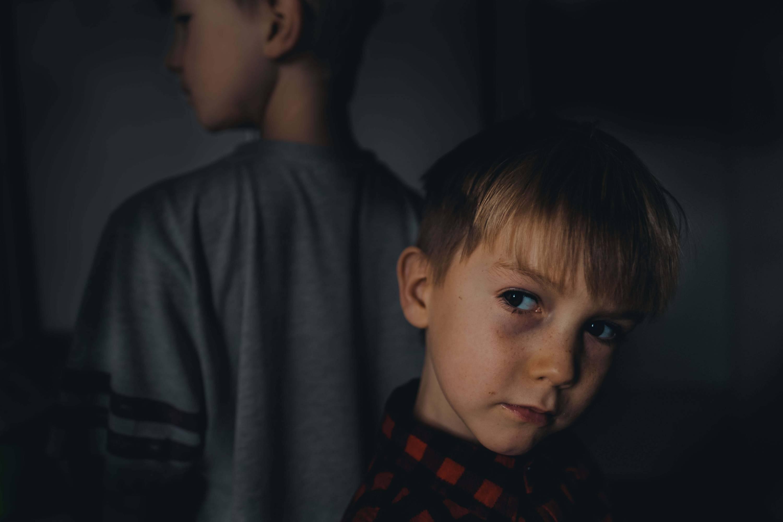 portrait of two kids