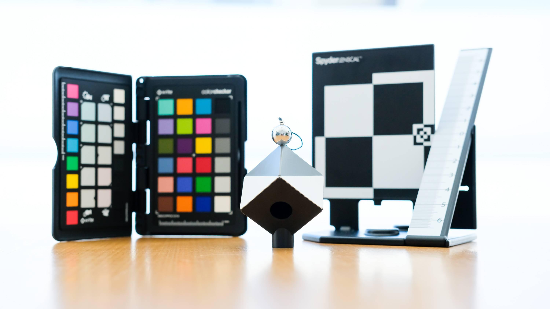 color checkers to properly calibrate camera